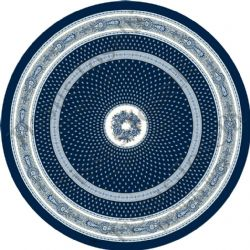 Provence Nimes Tablecloth Round 180cm Dark Blue/White